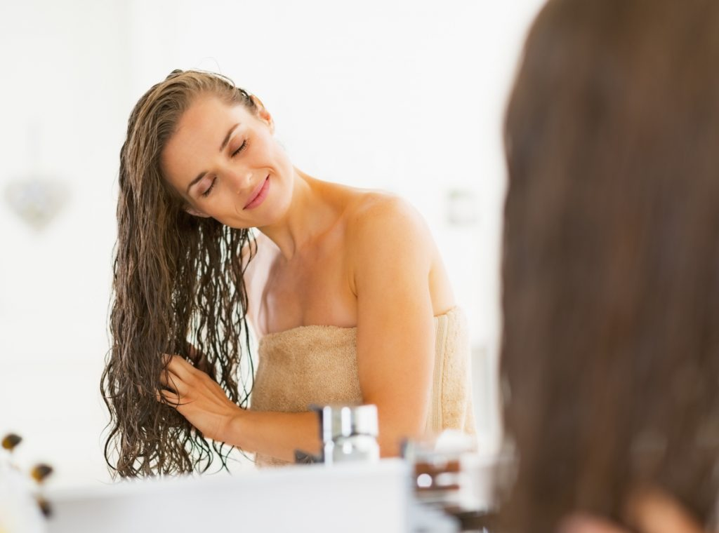 hidratando o cabelo